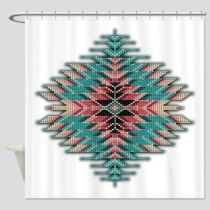 Southwest Native Style Sunburst Shower Curtain
